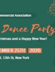 editable online christmas dance party ticket template  fotor design party ticket template example