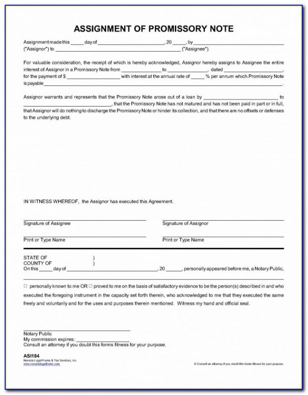 editable sample promissory note template with collateral  vincegray2014 assignment of promissory note template word