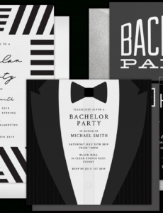 email online bachelor party invitations that wow bachelor party ticket template pdf