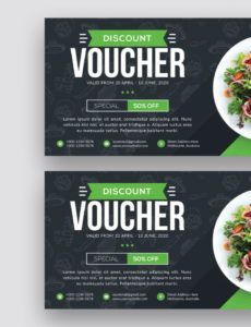 free food gift voucher corporate identity template food sale ticket template example