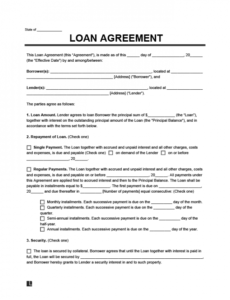 free loan agreement template simple personal employee family promissory note template pdf