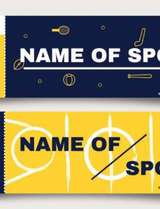 free sports ticket free vector art  112 free downloads sports event ticket sample