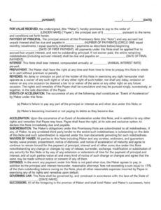 sample of free family loan agreement forms and templates wordpdf family promissory note template word
