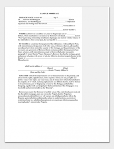 sample of mortgage promissory note 6 samples & examples mortgage promissory note template doc