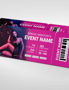 sample party event ticket design template party ticket template example