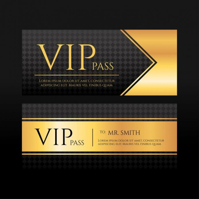 sample template  vip pass template vector download free vectors vip ticket template excel