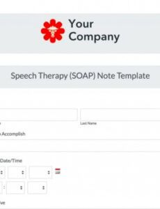 speech therapy soap note template  formstack speech therapy note template pdf