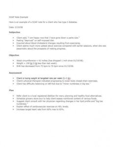 editable 11 soap note example free download word pdf diabetic soap note template pdf