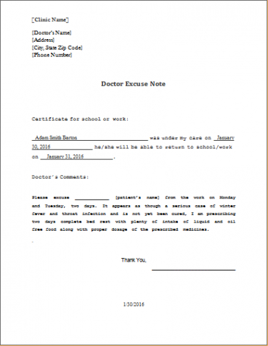 editable doctor excuse note template ms word  word & excel templates doctors excuse note for work template doc