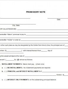 editable free 34 promissory note templates in google docs  ms word installment note template excel