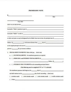 editable free 6 promissory note agreement forms in pdf  ms word automobile promissory note template