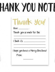 editable kid's fillintheblank thank you note printable  the kids thank you note template pdf