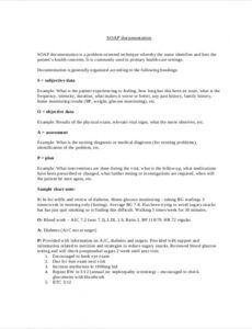 free 8 soap note samples in pdf  ms word diabetic soap note template