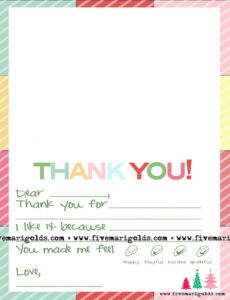 free christmas thank you note template for kids  five marigolds kids thank you note template pdf