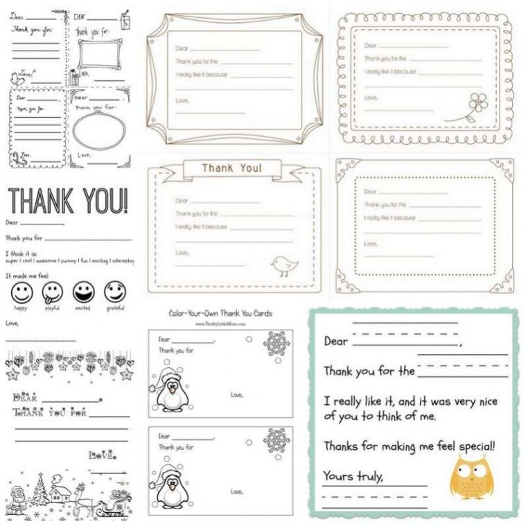 free printable thank you cards for kids to write  hands on as we kids thank you note template excel