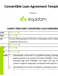 printable convertible note template  equidam business valuation convertible promissory note template pdf