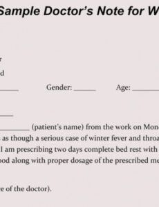 printable creating fake doctor's note  excuse slip 12 templates for doctors excuse note for work template