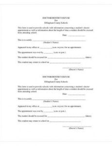 printable free 6 doctor excuse samples in google docs  pages  ms dentist excuse note template word