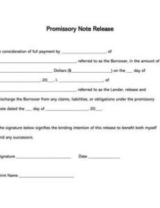 printable free promissory note release forms & templates by state automobile promissory note template