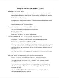 sample of free 8 soap note samples in pdf  ms word mental health soap note template