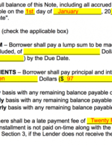 sample of free promissory note templates  word  pdf  eforms installment note template word