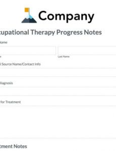 sample of occupational therapy progress note template  formstack ot progress note template word