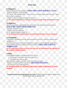 soap note occupational therapy examination review guide ot progress note template word