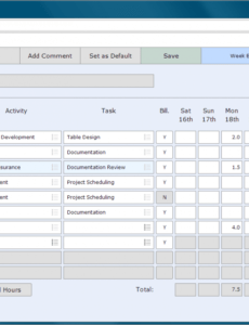 Casual Timesheet Template Excel Example