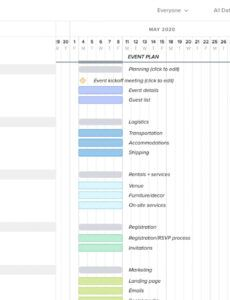Editable Corporate Event Planning Checklist Template Excel Sample