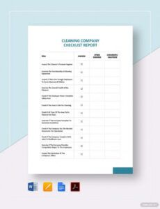 Free Cleaning Business Checklist Template Excel Example