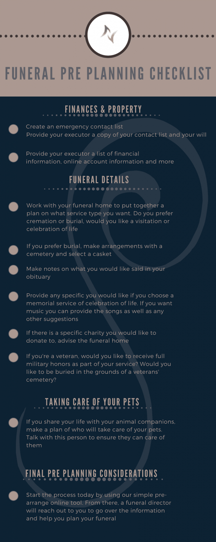 Free Funeral Planning Checklist Template Pdf