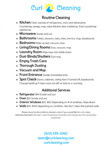 Printable Move Out Cleaning Checklist Template