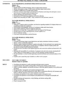 Best Operations Manager Resume Template Pdf Sample