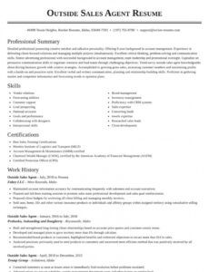 Best Outside Sales Resume Template Doc Example