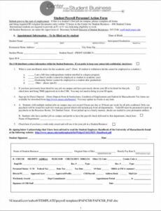 Costum Payroll Change Notice Form Template  Example