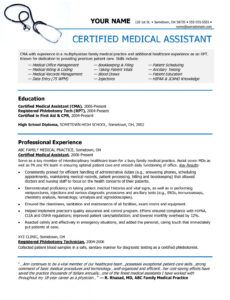 Costum Resume Template For Medical Assistant Excel Example