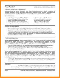 Free Software Engineering Resume Template  Example