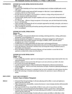 Operations Manager Resume Template  Example