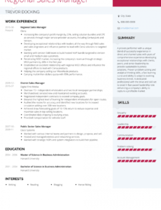 Printable Resume Template For Sales Manager Word Sample