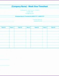 Professional Law Firm Timesheet Template Word