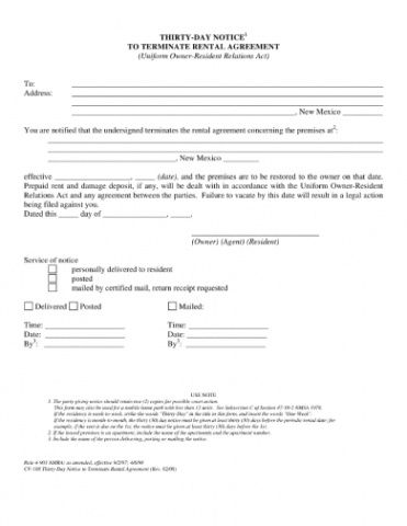 Best 30 Day Notice Contract Termination Letter Template  Sample