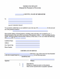 Best Immediate Eviction Notice Template Pdf Sample