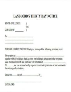 Editable Apartment Eviction Notice Template  Sample