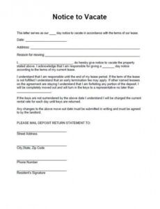 Editable Commercial Eviction Notice Template Word Example