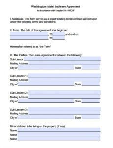 Editable Sublease Eviction Notice Template Doc
