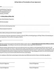 Free 30 Day Notice Contract Termination Letter Template  Example