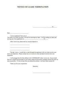 Free 60 Day Notice To Vacate Apartment Template Doc