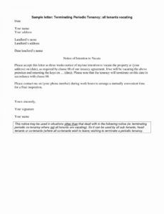 Free 60 Day Notice To Vacate Apartment Template Doc Example
