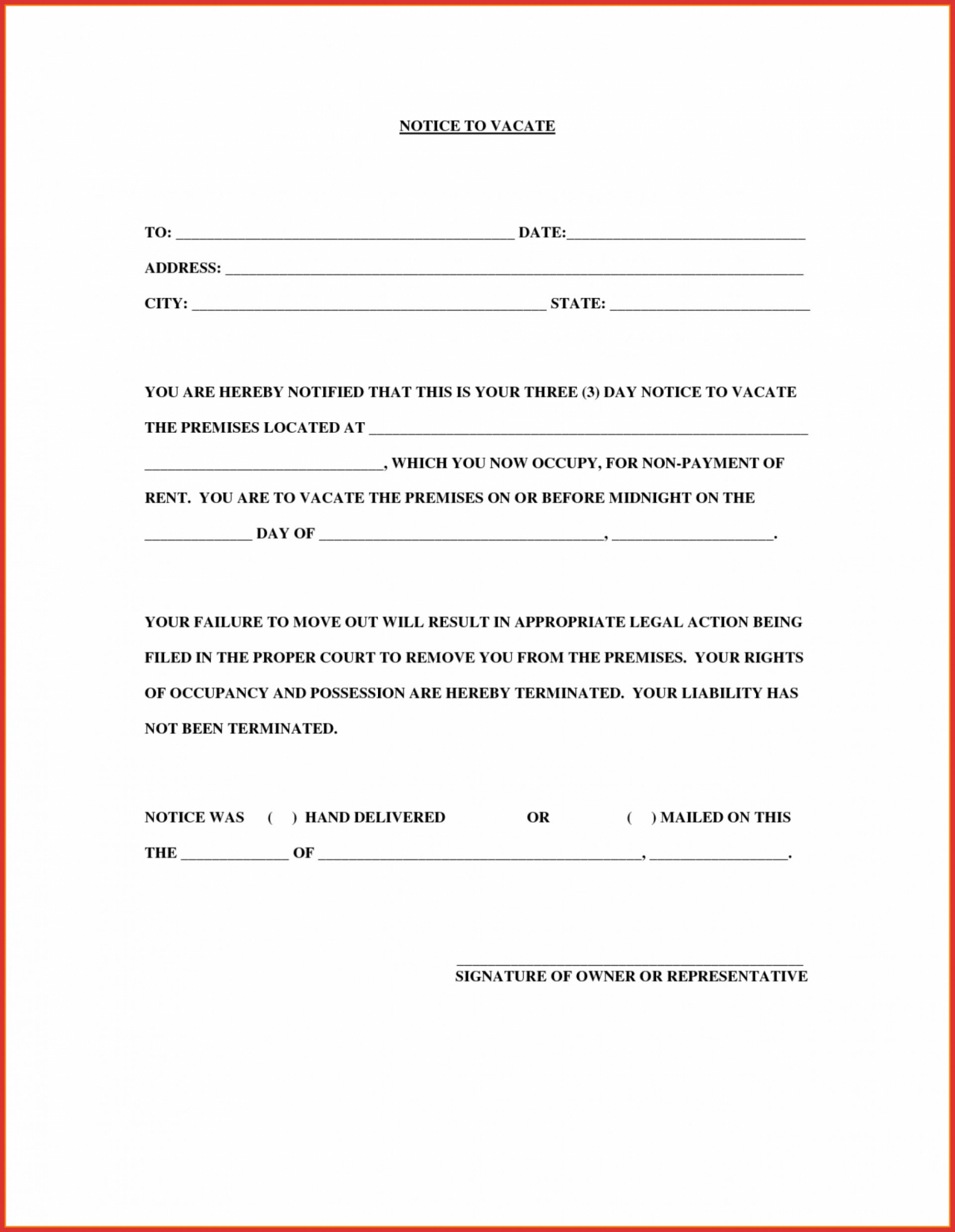 Free Apartment Eviction Notice Template Excel Sample