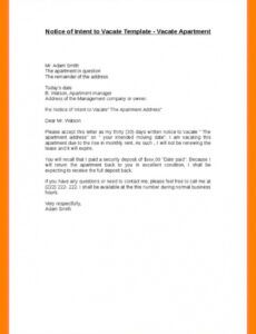 Free Apartment Eviction Notice Template Word Example